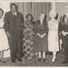 Unidentified event attended by, left to right, Claudia Jones, Paul Robeson, Amy Ashwood Garvey, Eslanda (Essie) Robeson, and unidentified couple