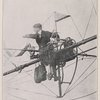 A token of the future. Monsieur Santos-Dumont in midair.