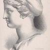Tete de Sappho d'après l'antique