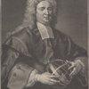Nicholas Saunderson A.M. Matheseos Professor Cantabrigiae & R.S.S. Obit 1739. Aetat: 57