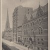 Trinity Church. Real Estate Exchange. Brooklyn Library.