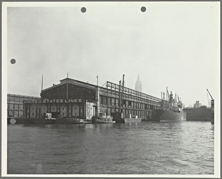 [Pier 59, North River. View from River]