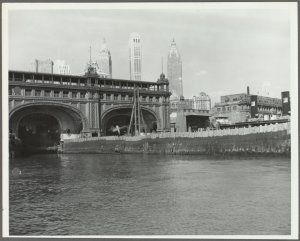 Collection of photographs of East River and Hudson River piers, Manhattan