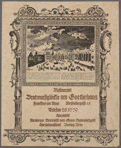 Bratwursgloctle am Goethehaus (RESTAURANT)