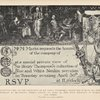 Invitation card to the exhibition of Sir Henry Thompson's collection.