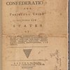 Articles of confederation and perpetual union between the states of New-Hampshire... (Title page)