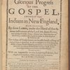 The glorious progress of the gospel, amongst the Indians in New England. ... (Title page)