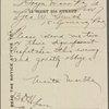 Correspondence with Manton Marble