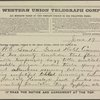 Telegrams relating to 1880 Democratic National Convention