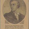 Judendporträt Schillers von unbekannter Hand mir dem Faksimile eines Autogramms von Adolph Stahr.