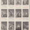 """Diese zwölf Illustrationen sind Kuperstiche von Chodowiecki zu Schillers """"Kabale un Liebe."""" Aus dem """"Königl. grossbrit. genealog. Kalender auf das Jahr 1786"""". Engelmann, Chodow, 541."""