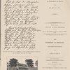 """Die beiden ersten Berse aud der eigenhändigen an Körner gesandten Reinschrift von Schillers """"Hero und Leander"""" (Ende Juni 1801 versasst) ; F. v. Shillers Wohnhaus in Weimar, welches er vom 30. April 1802 bis zu seinem Tode bewohnte ; Titel der ersten Ausgabe von Schiller """"Braut von Messina"""" (1803) ; Titel der ersten Ausgabe der """"Jungfrau von Orleans"""" (1802)."""