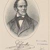 Andreas Schmeller. Nach Lithographie eines 1849 von I. Bernhard gemalten Ölbildes.
