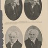 Schopenhauer in 1852. From two daguerreotypes highly prized by Schopenhauer, now in the possession of Elisabet Ney. They represent the sitting when Schopenhauer drank the historical bottle of wine to remove his wonted lugubrious and pessimistic cast of countenance ; [Arthur Schopenhauer] From two photographs in the possession of Dr. Lindorme, of Chicago. Date unknown.
