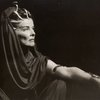 Half-length view of Katherine Hepburn as Cleopatra.