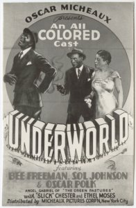 "Poster for Oscar Micheaux's 1937 motion picture ""Underworld."""