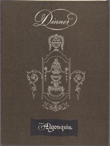 Monday dinner held by Algonquin Hotel at Algonquin Hotel -- New York, New York (NY) (English).