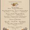 Thanksgiving dinner at Savoy Plaza -- New York, New York (NY) (English).