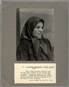 A Slovak Immigrant, Ellis Isla... Digital ID: 212079. New York Public Library