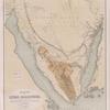 Karte der Sinai-Halbinsel.