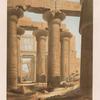 Theben [Thebes]: Innere Ansicht der Halle von Karnak.