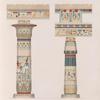 Theben [Thebes]. Memnonia [Ramesseum]: Säulen aus der Halle des Tempels Ramses II.