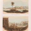Ansicht der Insel Konosso von Süden; Ansicht der Insel Bigeh von Osten.