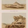 Ansicht der Pyramiden von Kurru; Ansicht der Felsenkammer von Dôsche [Gebel Dosha].