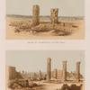 Ansicht der Tempelruinen von Ben-Naga; Ansicht der Ruinen von Mesaurât E' Sofra [Musawwarat al-Sufrah Site].