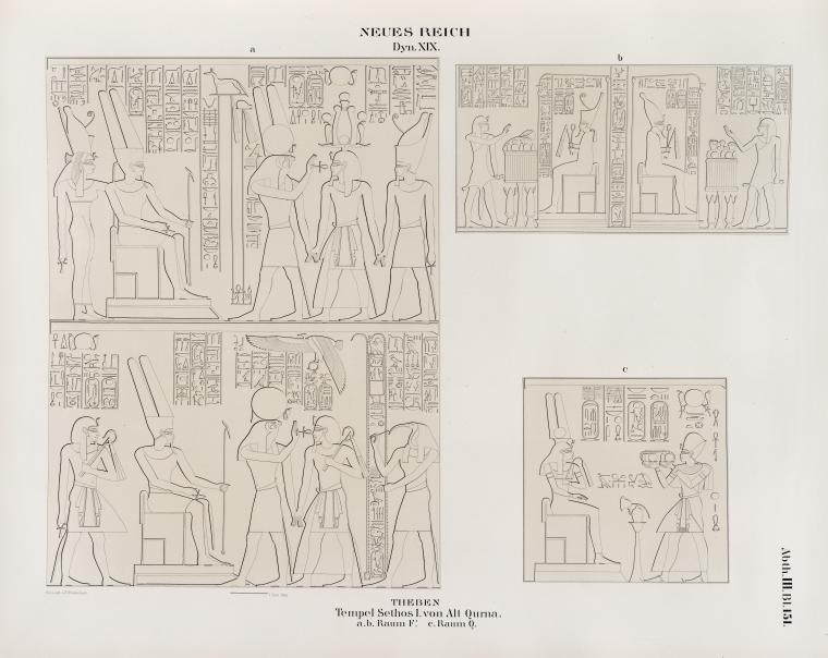Fascinating Historical Picture of Seti I, King of Egypt in 1849