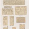 Neues Reich. Dynastie XIX.  a - f. West Silsilis [Gebel el-Silsila]; g - i.  Felseninschriften zwischen Assuan [Aswân] und Philae; k. Felseninschrift auf der Insel Sehêl .