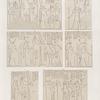 Neues Reich. Dynastie XX.  Theben [Thebes], Karnak: a-f. Säulen im Hypostyl.