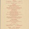 Sunday Mother's Day brunch and dinner menu, Park Lane