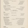 Supper at The Plaza, Oak Room; Hilton Hotels -- New York, New York (NY) (English, French).