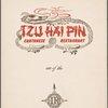 Daily menu, Tzu Hai Pin Cantonese Restaurant