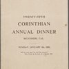 Dinner held by Corinthian Cooks & Waiters Union No. 23 -- Belvedere, California (CA) (English)