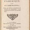 Révolution de l'Ameŕique. (Title page)
