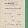 Dinner menu, Southern Pacific