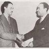Benjamin J. Davis, Jr. (right) and Thurgood Marshall