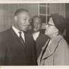 Martin Luther King, Jr. (left) and Eslanda Goode Robeson (right).