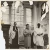 Eslanda Goode Robeson (center), with Vicar Austen Williams (left), attending an unidentified service at St. Martin-in-the-Fields church, Westminster, London, ca. late 1950s