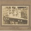 Family of Francis A. Smith surrounding her coffin.