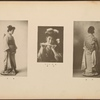 Full-length portrait of Japanese woman (side view); Japanese woman holding fan; Full-length portrait of Japanese woman (back view), plate [2]