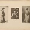Full-length portrait of Japanese woman (side view); Japanese woman holding fan; Full-length portrait of Japanese woman (back view), plate [2]