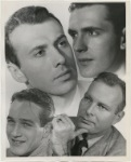 Montage of Richard Kiley (Kismet), Larry Blyden (Oh Men, Oh Women), Paul Newman (Picnic), and Leif Erickson (Tea and Sympathy).