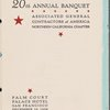 Dinner held by Associated General Contractors of America at Palace Hotel (Hotel) -- San Francisco, California (CA) (English)