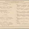 Breakfast held by Boston & Albany Railroad, New York Central System (Railroad) -- New York, New York (NY) (English)