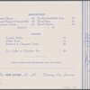 Tea menu held by The New Haven R. R. (Railroad) -- (English)