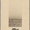 Daily menu held by New York Central System (Railroad) -- (English)