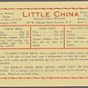 Daily menu at Little China (Restaurant) -- Syracuse, New York (NY) (English)